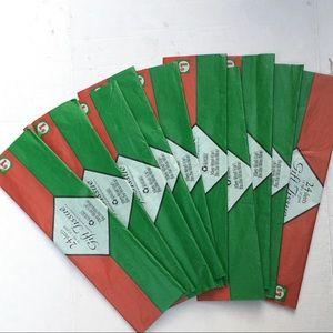 10 packs tissue paper red & green Christmas